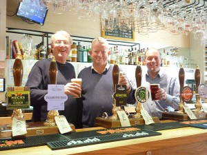 Grant Cook and his staff at Sandford Park Alehouse, Cheltenham