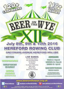 Beer On The Wye @ Hereford Rowing Club | Hereford | United Kingdom