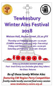 Tewkesbury Winter Ale Festival @ Watson Hall | Beaverton | Oregon | United States