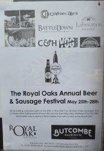 Beer and Sausage Festival @ Royal Oak | Prestbury | England | United Kingdom
