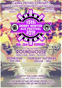 15th Derby CAMRA Winter Ale Festival & Young Members Event @ Round House | England | United Kingdom