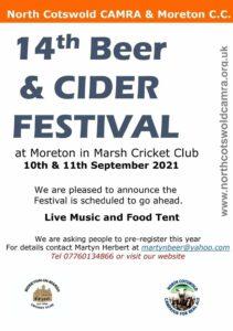 Moreton Beer and Cider Festival @ Moreton in Marsh Cricket Club